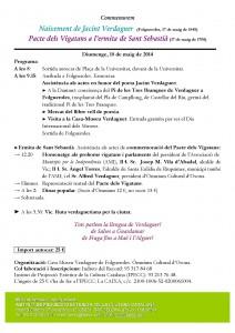 Commemoració del naixement de Jacint Verdaguer a Folgueroles i Pacte dels Vigatans
