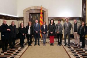 Els premiats de l'any 2017 van ser rebuts en audiència per la presidenta del Parlament de Catalunya, Carme Forcadell.